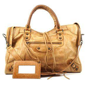 Auth Balenciaga The City Bag #6740B21